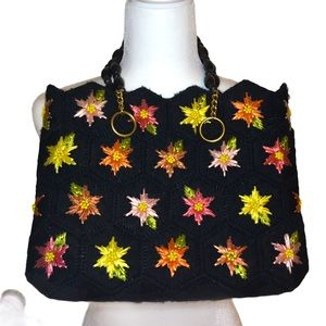 Crafted floral purse